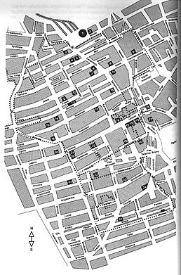Map of the Warsaw ghetto.