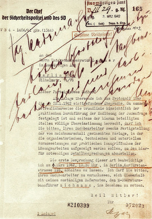 Nazi Letters on Execution of the Jews