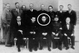 Fenenc Szálasi (seated, centre) with members of his 1944 cabinet.
