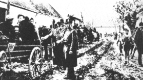 Gendarmes supervised deportation of Jews from Hungarian villages.