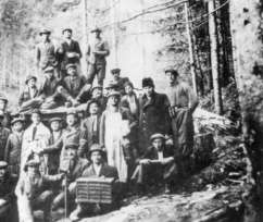 Jewish members of a forced-labour camp 3 miles north of Budapest.