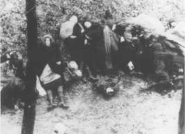 Victims of the death march from Budapest to the Austrian border.