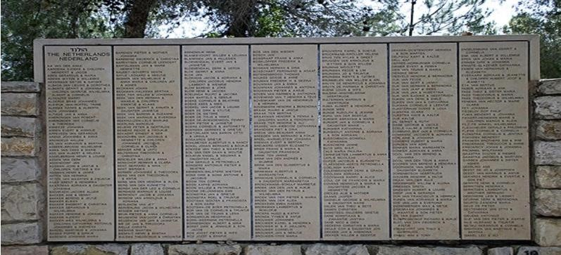 The Wall of Honor at Yad Vashem