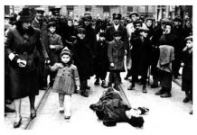 Warsaw Ghetto photographs - Dead man lying in the street