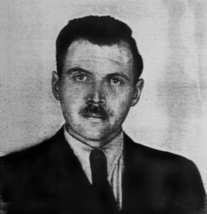 Josef Mengele German SS officer.