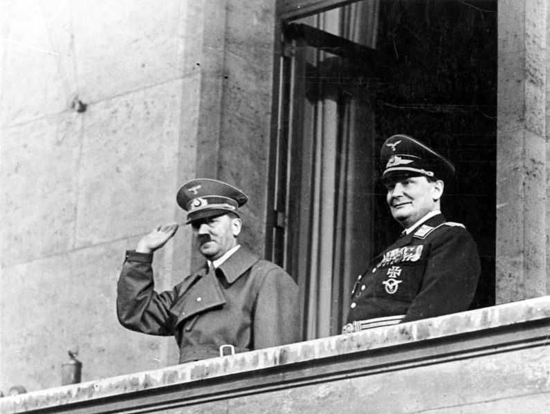 Adolf Hitler with Hermann Göring