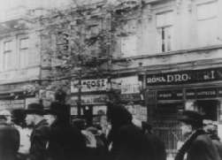 Elderly Jews move into the newly formed Budapest ghetto.