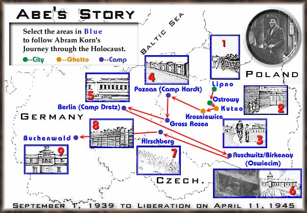 Abe's Story Interactive Map