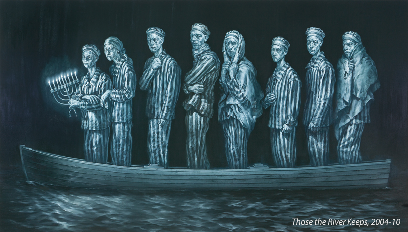 Holocaust art by Geoffrey Laurence - Those the River keeps
