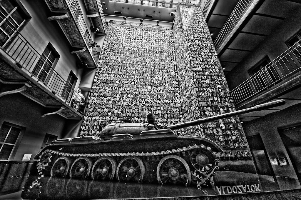 Soviet Tank, House of Terror, 60 Andrassy Ut. Budapest Hungary.