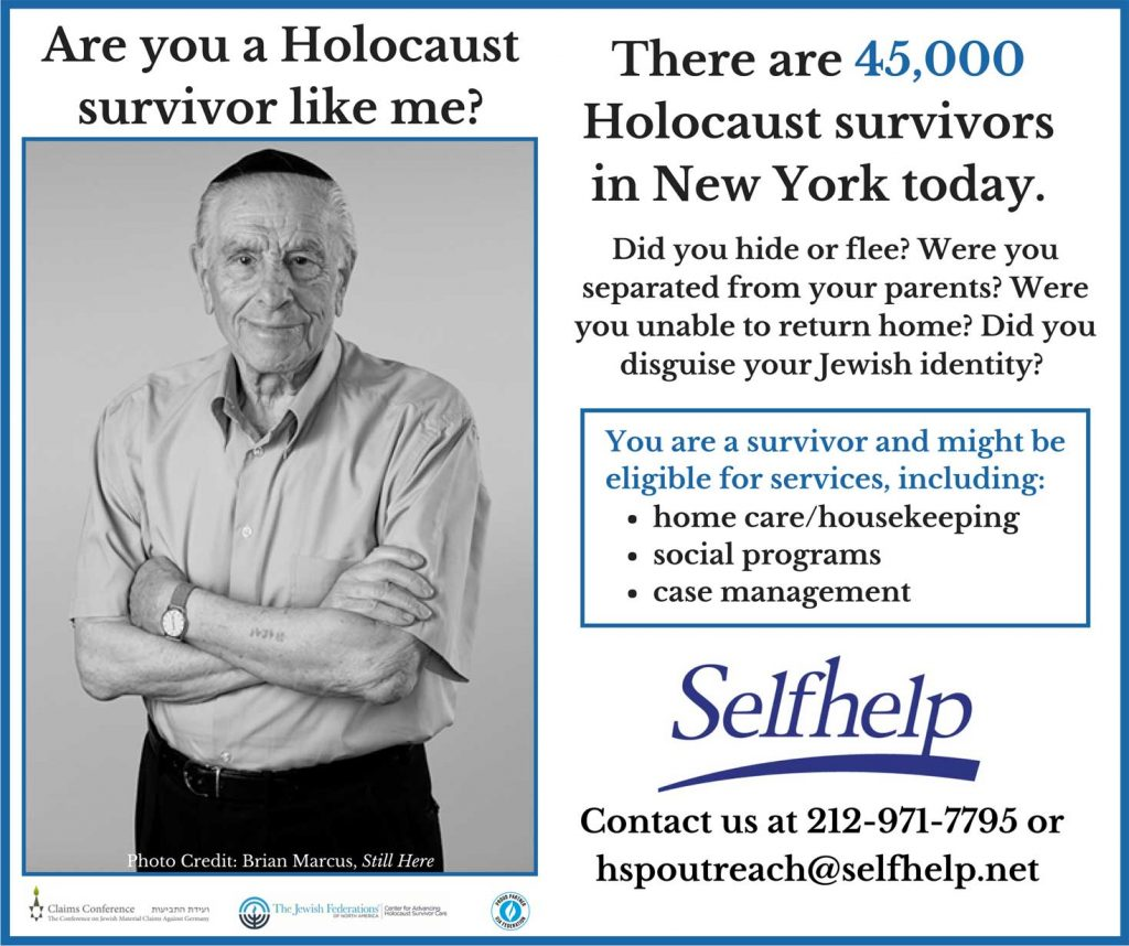 Selfhelp' services for Holocaust survivors