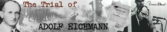 The Trial of Adolf Eichmann - banner graphic