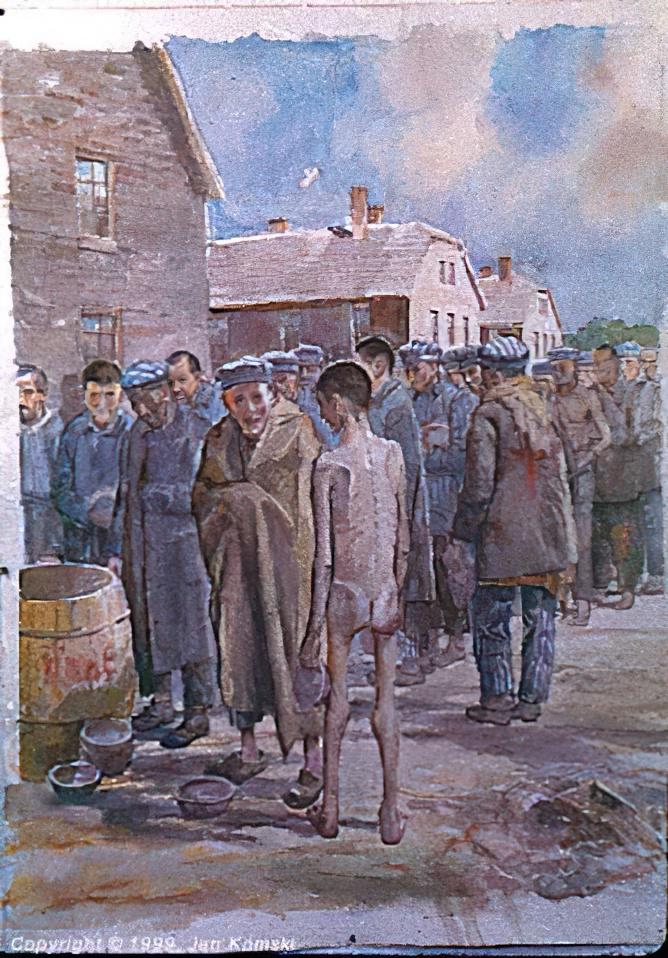 Polish Painter Jan Komski - Looking for scraps