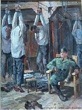 Administrative Punishment – a painting by Jan Komski
